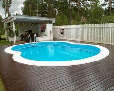 ovalbecken stahlwandpool 1,20 m tief made in germany | pool im, Hause und Garten
