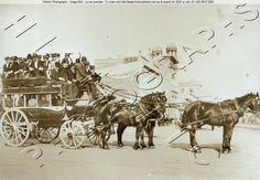 This is why I don't like catching the bus. So crowded!! Horse-drawn bus - Railway Square. Sydney NSW 1880s