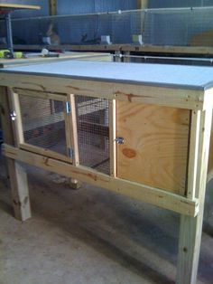 rabbit cages  2x4 with built in winter box.