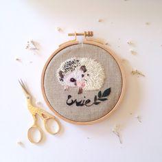 My custom embroidery piece of Hedgehog.