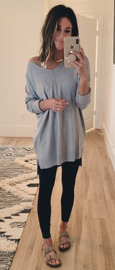 Pretty Summer Outfits To Inspire Yourself men's gray long sleeve shirt Fall Winter Outfits, Summer Outfits, Casual Outfits, Cute Outfits, Fashion Outfits, Hot Mom Outfits, Mom Fashion, Grey Long Sleeve Shirt, Shirt Sleeves