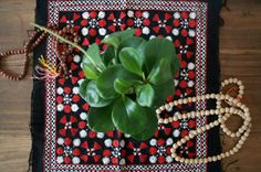 Vintage Hmong Handmade Fabric / Hill Tribe by TheHippoIsland