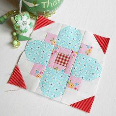 Block-a-Day - Block 248 Quatrefoil | Lovely patchwork block … | Flickr