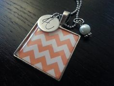 Initialed Square Pendant by ShopGingerSquared on Etsy, $25.00