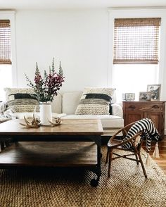 black and white living room with lots of texture