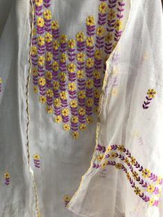 Kurti Neck Designs, Saree Blouse Designs, Blouse Patterns, Hand Embroidery Design Patterns, Embroidery Suits Design, Gala Design, Embroidery On Kurtis, Indian Designer Wear, Dresses For Work