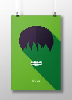Flat Design e personagens da cultura pop nos pôsteres de Moritz Adam Schmitt Logo Super Heros, Flat Design Poster, Hulk Poster, Pop Art, Draw On Photos, Arte Pop, Minimalist Poster, Cultura Pop, Wall Art Designs
