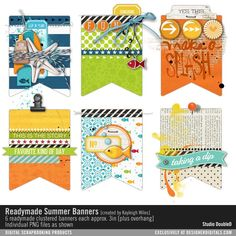 Readymade Banners: Summer No. 01- Studio Double-D Elements- EL742936- DesignerDigitals