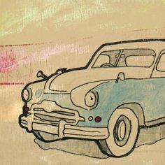 Joel Ganucheau - Automobile I - Fine Art Print