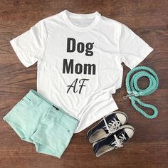 """Are you easily distracted by dogs? Then this dog mom tee is the perfect shirt for you! T-shirt reads, """"Easily distracted, by dogs"""". of your purchase will go to help animals in need! Dog Mom Gifts, Dog Lover Gifts, Dog Lovers, Gifts For Dogs, Cute Shirts, Funny Shirts, Women's Shirts, Dog Mom Shirt, Mama Shirt"""