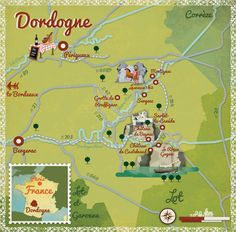 Alexandre Verhille - map of the Dordogne #map #france