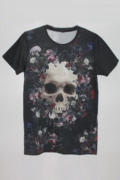 Skull Graphic Tee OASAP.com