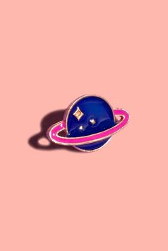 Image of SPARKLING SATURN LAPEL PIN