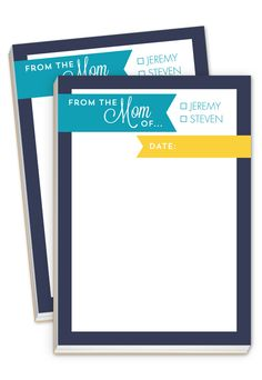 Two Kids Checkbox Notepad - gifts for mom!
