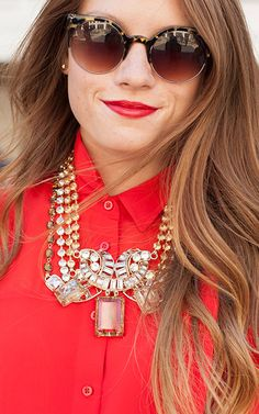 Let your necklace make its statement by wearing it against a bright button down shirt. Find your new favorite statement necklace from J. Crew and shop more inspiration on eBay.