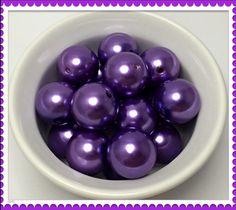Chunky beads, chunky beads product, chunky beads supplies, chunky beads etsy, chunky beads DIY, chunky beads necklace supplies, chunky bead jewelry supplies, Chunky Bead Pearl Purple gumball beads 20mm by Urbancitysupplies