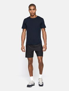 Midweight short sleeve with a crew neck. Your year-round hiking buddy.