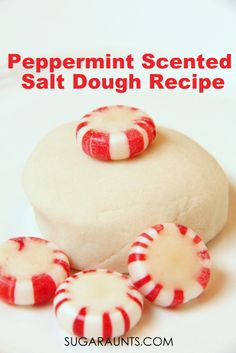 Almond Scented Salt Dough Recipe - The OT Toolbox Peppermint Scented Salt Dough Recipe for Christmas ornaments 1 cup of salt, 1 cup of flour, and cup water, 2 drops peppermint essential oils Recipe For Christmas Ornaments, Christmas Crafts For Toddlers, Christmas Scents, Homemade Ornaments, Homemade Christmas, Diy Ornaments, Felt Christmas, Christmas Ideas, Xmas