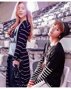 Stripes [ RE-EDIT ] P/s RE-EDIT! Check out the old version below I love this better, hehehehe Taehyung, Boy Band, Idol, Bts Girl, Kpop Couples, Ulzzang Couple, Red Velvet Irene, Bts Fans, Soyeon