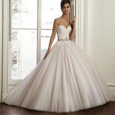 New Off Shoulder Bridal Dress Sweetheart Decoration Elegant Appliques Sash Vestido De Noiva Anna Campbell Wedding Dress 2015