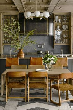 Küchen Design, House Design, Interior Design, Herringbone Tile Floors, Dining Room Inspiration, Beautiful Kitchens, Cozy House, Kitchen Interior, Home Kitchens