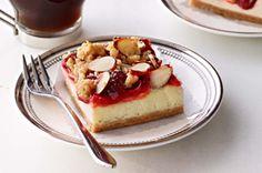 Cherry streusel cheesecake bars