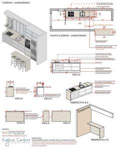 Architecture Details, Interior Architecture, Casa Bunker, Kitchen Elevation, Interior Styling, Interior Decorating, Interior Design Presentation, Sliding Wardrobe Doors, Studio Kitchen
