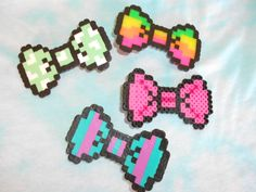 Cute Bows Perler Hama Melty Fuse Beads