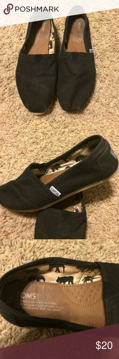 Toms black women's size 6 Toms black women's size 6. Excellent condition. Worn only a couple times. TOMS Shoes Sneakers