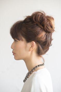 カラーを生かしたアップヘアを コーディネイトのアクセントに。 - ボブヘアアレンジ - ヘアカタログ:シュワルツコフ オンライン Schwarzkopf Professional, Hair Beauty, Fashion, Moda, Fashion Styles, Fashion Illustrations, Cute Hair