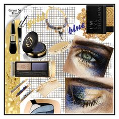 """""""GOLD AND BLUE!!!"""" by kskafida ❤ liked on Polyvore featuring beauty, Becca Cosmetics, Forever 21, L'Oréal Paris, Gucci, Guerlain, Lancôme, Avigail Adam, Chico's and Celine H2o"""