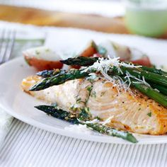 Basil-Buttered Salmon  This easy-to-make salmon dinner is full of buttery basil flavor. Try it tonight for a fast carb-smart supper