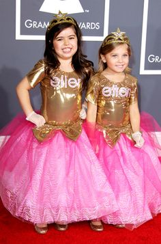 Sophia Grace and Rosie are the cutest guests Ellen has ever had on her show. I enjoy hearing them sing and watching them freak out on the red carpet when meeting celebrities. Too cute.