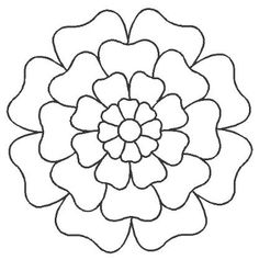 """SASHIKO DESIGN STENCIL Cut on 12 mil plastic with hanging holes for easy use and storage. 10 1/2"""" Sunflower - (looks like Chrysanthemum) $5.50"""