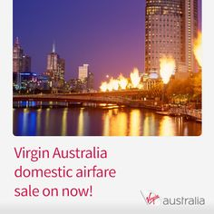 Virgin Australia domestic fares on sale now. Hurry, sale ends tomorrow! http://www.corporatetraveller.com.au/virgin-australia-domestic-sale-now