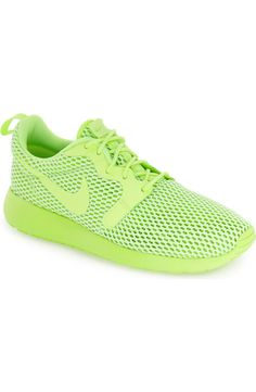 Loving the vibrancy of these ultra-light mesh sneakers from Nike. They feature durable Hyperfuse construction and a well-cushioned Ortholite® insole.