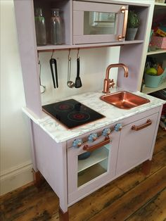 Duktig Kitchen Purple Marble Copper IKEA Kitchen For Kids