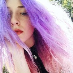 New hair ombre lavender cotton candy ideas Hair Color Pink, Purple Hair, Ombre Hair, Hair Colors, Long Bob Hairstyles, Trendy Hairstyles, Wedding Hairstyles, Blonde Streaks, Chignon Hair