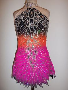 Customized Beautiful Ice Skating Baton Twirling Dress | eBay