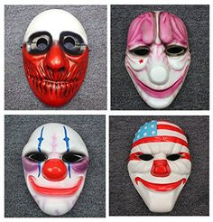 Gmasking Payday 2 Cosplay Mask Dallas,Hoxton,Wolf,Chains Replica Gmask Keychain (4 Pieces(Dallas,Wolf,Hoxton,Chains)) * Learn more by visiting the image link.