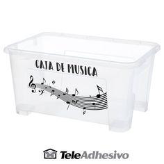 Decorar caja con motivos musicales #vinilo #decoracion #pared #musica #caja #cubo #TeleAdhesivo Container, Decorate Box, Adhesive, Cubes, Decorated Boxes, Musicals