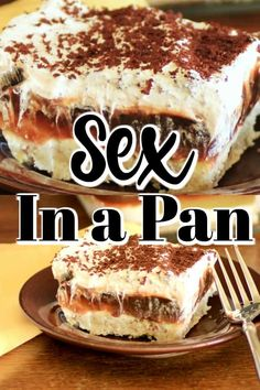cream cheese recipes Sex in a Pan is such an easy dessert made with pudding, cream cheese and a whipped topping. It is great for a holiday gathering! Smores Dessert, Dessert Dips, Sex In A Pan Dessert Recipe, Tiramisu Dessert, Dessert Aux Fruits, Best Dessert Recipes, Cake Recipes, Recipe For Sex In A Pan, Baking Dessert Recipes