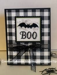 Bildergebnis für Stampin Up Buffalo Check - Stampin Up - halloween cards Halloween Paper Crafts, Up Halloween, Halloween Design, Halloween Cards, Halloween Themes, Halloween Decorations, Buffalo Check, Fall Cards, Christmas Cards