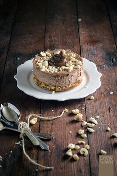 Nutella Cheesecakes with Salted Popcorn Crust Recipe | Chew Town Food Blog