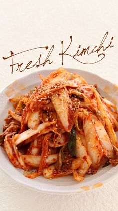 Instant Kimchi Recipe : Geot-Jeori : Korean Fresh Kimchi - Seonkyoung Longest Hi guys, Today I'm sharing delicious instant kimchi recipe- we call Geotjeori! It's not fermented and you can eat it right after you made it. I personally LOVE geotjeori, my mom Korean Dishes, Korean Food, Vietnamese Food, Fresh Kimchi Recipe, Kimchi Cabbage Recipe, Korean Kimchi Recipe, Asian Recipes, Healthy Recipes, Ethnic Recipes