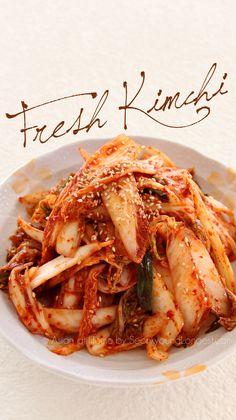 Instant Kimchi Recipe : Geot-Jeori :  Korean Fresh Kimchi