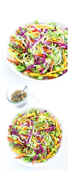 Asian Cucumber Noodle Salad Recipe on twopeasandtheirpod.com This healthy and colorful salad is easy to make and fun to eat! It's great as a side dish or main dish.