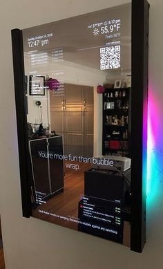 Mirror Mirror On The Wall Magic Mirror – Made on a Glowforge – Glowforge Owners Forum - Diy Projects Smart Mirror Diy, Diy Mirror, Mirror On The Wall, Mirror House, Sunburst Mirror, Wall Mirrors, Mirror Ideas, Best Home Automation, Smart Home Technology
