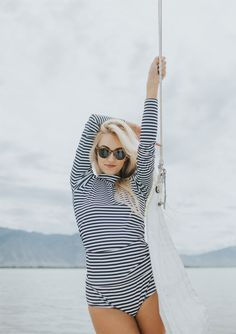 NEW PRODUCT!! {Pana Stripe Long Sleeve Rash Guard} Buy yours today | @albionfit