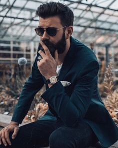 Guess what I'm thinking of. I'll use the best comment as caption and credit the author. Mens Hairstyles With Beard, Cool Hairstyles For Men, Hair And Beard Styles, Haircuts For Men, Portrait Photography Men, Photography Poses For Men, Beard Boy, Beard No Mustache, Gents Hair Style